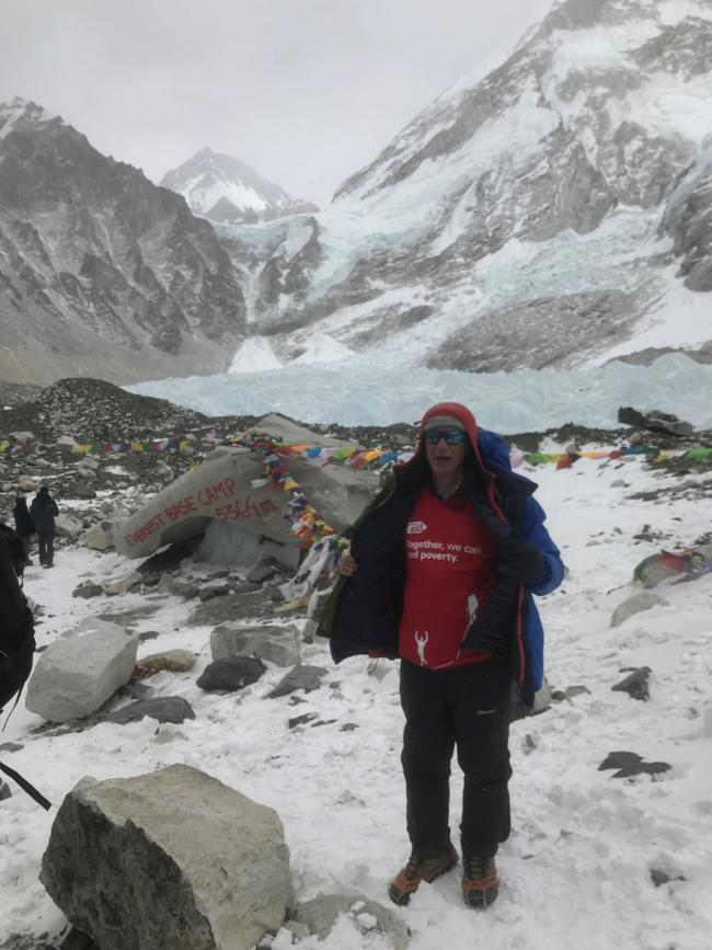 Retired vicar Phillip Nixon climbed to Everest base camp just before borders closed