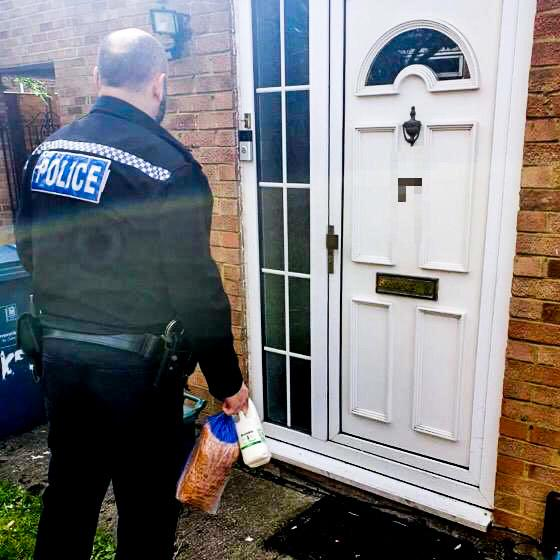 Police visit home of vulnerable man for a welfare check.
