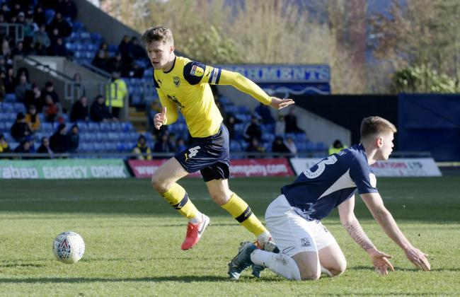 Rob Dickie in action during Oxford United's most recent home game - against Southend United in February   Picture: David Fleming