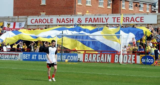 Oxford United fans at Altrincham in 2010   Pictures: David Fleming