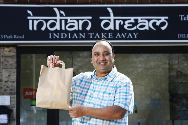 Indian Dream takeaway is offering free meals to NHS, Police and other key workers..Pictured is Hasnath Miah..23/04/2020.Picture by Ed Nix.