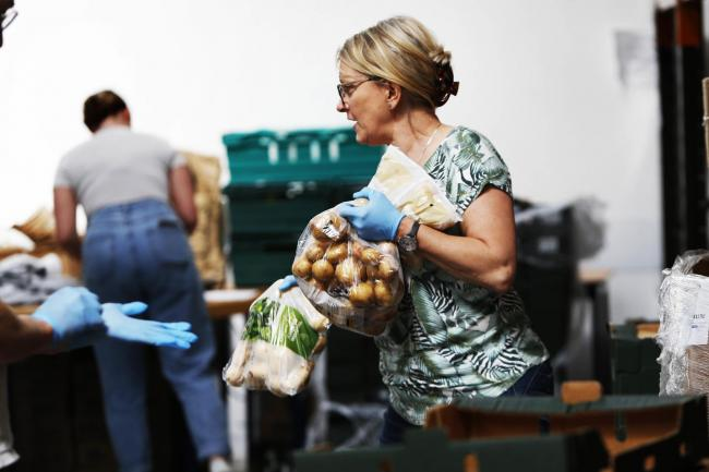 The team at food surplus charity SOFEA in Didcot have been working their socks off during the lockdown to help as many families as possible. Picture: Ed Nix