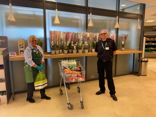 Waitrose staff gift Wantage firefighters