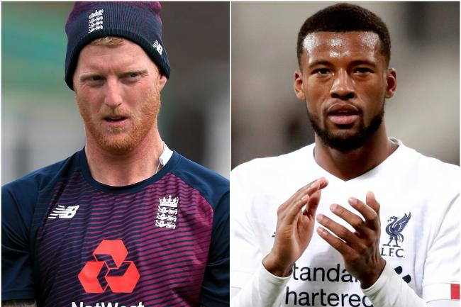 Ben Stokes and Georginio Wijnaldum