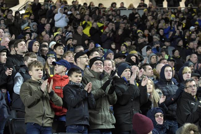Oxford United fans at MK Dons last December Picture: David Fleming