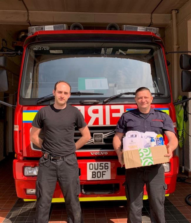 Maymessy cookery school in West Challow near Wantage has sent boxes of treats to key workers including the team at Wantage Fire Station. 			Picture: Maymessy