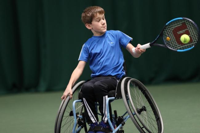 Oliver Cox only began playing tennis four years ago    Picture: James Jordan/Tennis Foundation