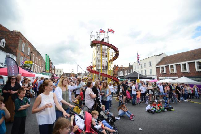 Wantage Carnival, which takes over the Market Place each summer. Picture: Richard Cave