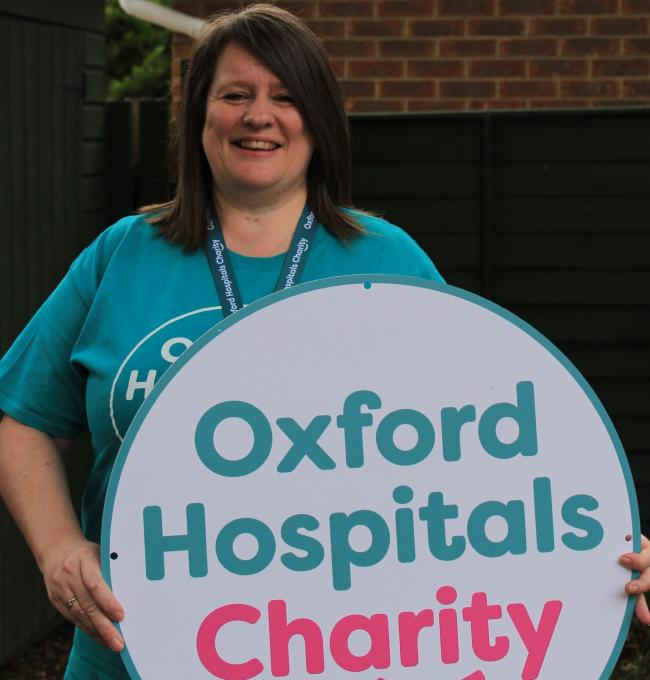 Oxford Hospital Charity's programme manager Hazel Murray.