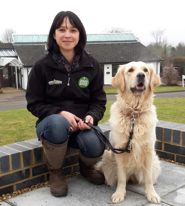 One of the co-ordinators Abigail Chung with puppy Anna