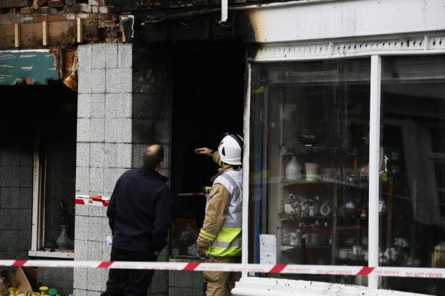 Acacia charity shop in Abingdon after the fire. Pic: Ed Nix
