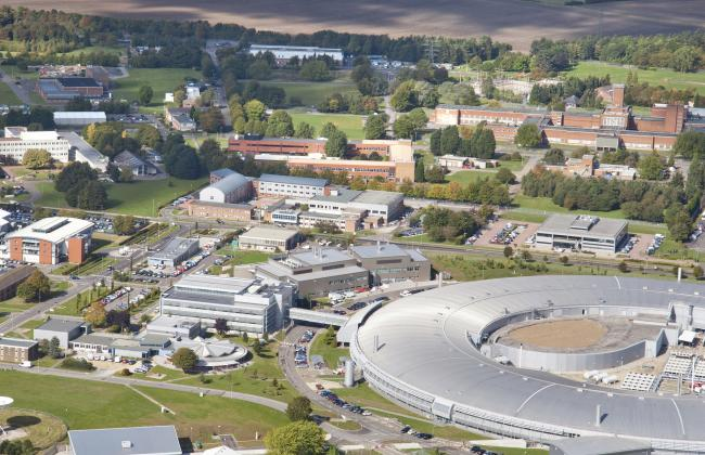 Aerial view of Rutherford Appleton Laboratory in 2017