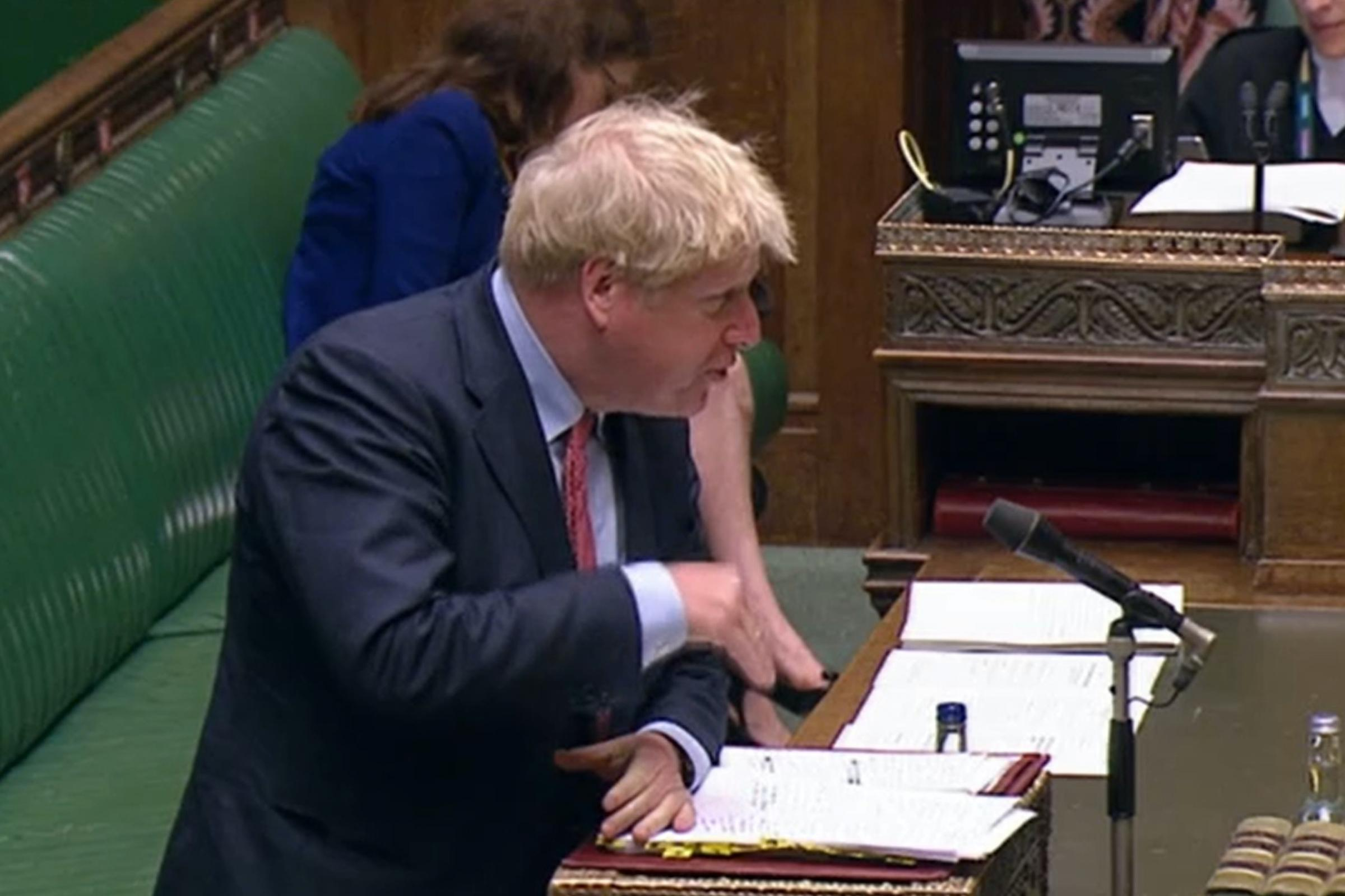 Boris Johnson delivers pants gag after coming under fire over Covid-19 response