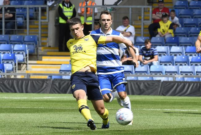 Cameron Brannagan in action for Oxford United against Queens Park Rangers during the last pre-season  Picture: David Fleming