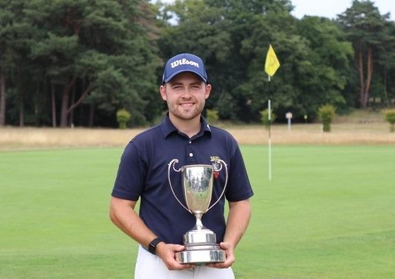 Olly Huggins with the BB&O Amateur Championship trophy