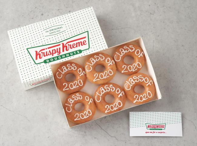 Krispy Kreme launch special edition 'exam results day' doughnut box for students. Picture: Krispy Kreme