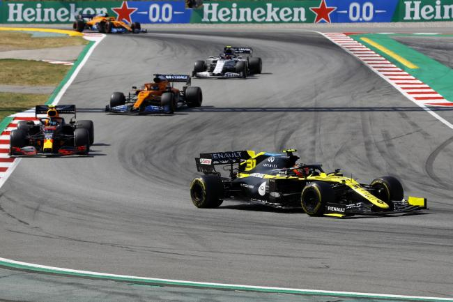 Renault's Esteban Ocon on the way to 13th place in Barcelona   Picture: Alejandro Garcia, Pool via AP