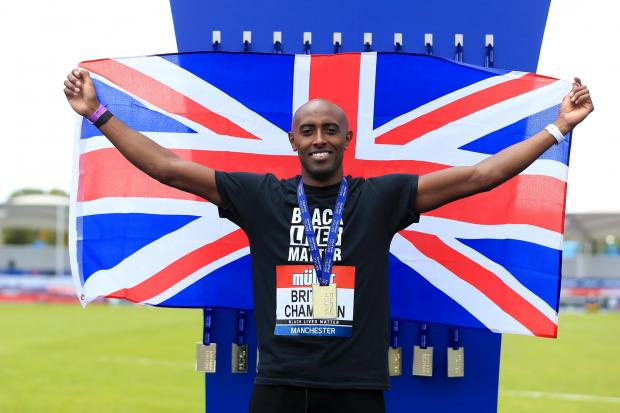 Nathan Douglas after winning triple jump gold at the 2020 British Championships Picture: British Athletics