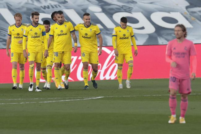 Cadiz celebrated a first win over Real Madrid since 1991