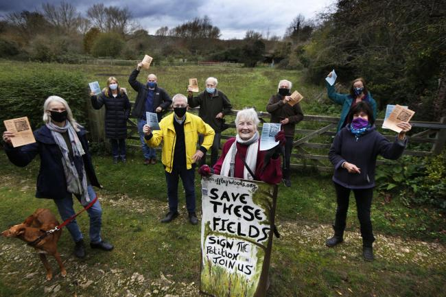 Campaigners petition to stop houses being built in Iffley village.