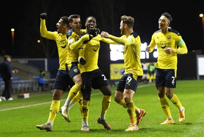 Oxford United began their five-match winning run in the home fixture against Northampton Town Picture: David Fleming