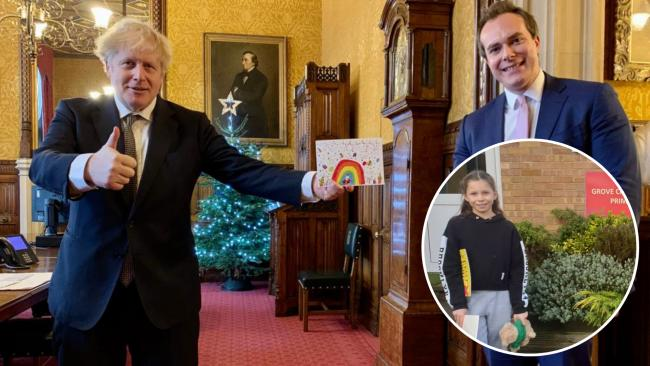 THUMBS UP for pupil's festive card to Prime Minister