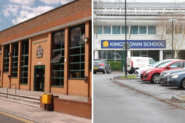 Swindon Magistrates' Court (left) and Kingsdown School stock phone (right) Pictures: ADVER PHOTOGRAPHER