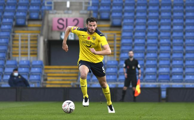 Elliott Moore is set to start for Oxford United against Cambridge United in the Papa John's Trophy on Tuesday Picture: David Fleming