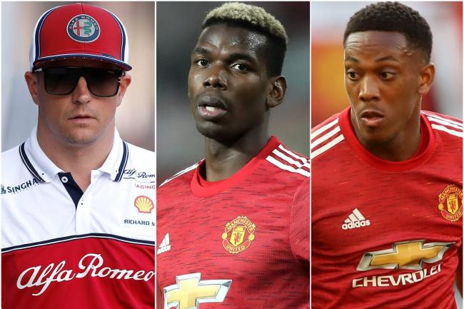 Kimi Raikkonen, Paul Pogba and Anthony Martial