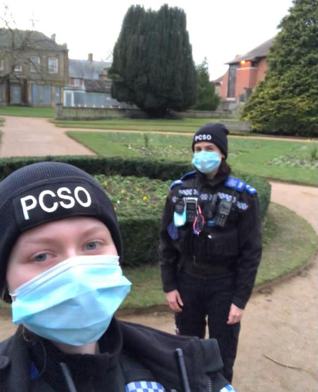 PCSOs attended incidents in Abingdon. Picture: Thames Valley Police