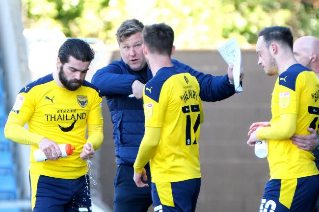 Karl Robinson suggested he would like Elliot Lee (far left) and Brandon Barker (far right) back at Oxford United next season Picture: Ric Mellis