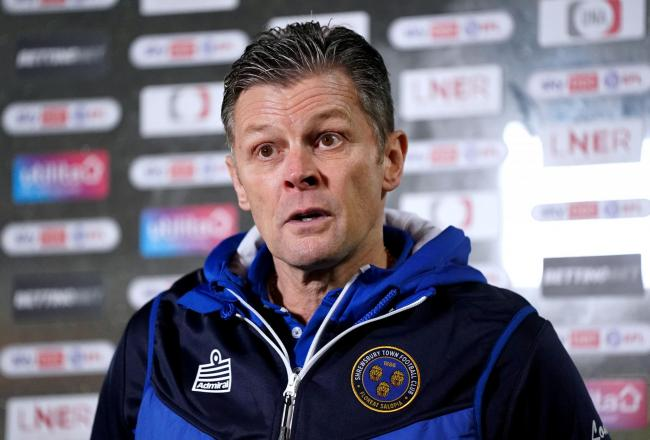 Shrewsbury Town manager Steve Cotterill could return to the dugout for the game against Oxford United. Picture: PA