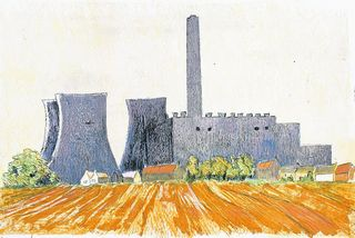 Catriona Brodribb's print of Didcot power station