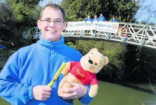 Oxford Spires Rotary president Michael Saunders