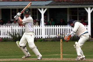 Charlie Brain hits another boundary as Shipton beat Challow