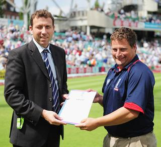 Paul White with Michael Atherton
