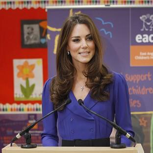 The Duchess of Cambridge speaks at the Treehouse in Ipswich