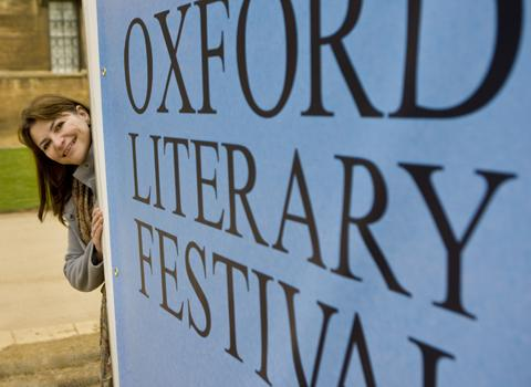 Sally Dunsmore, director of Oxford Literary Festival at Christ Church.