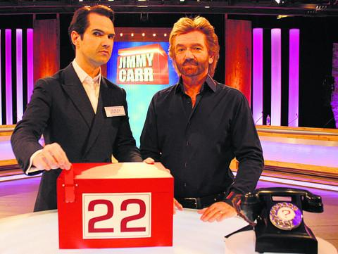 BOXING CLEVER: Jimmy Carr and Noel Edmonds on Deal Or No Deal