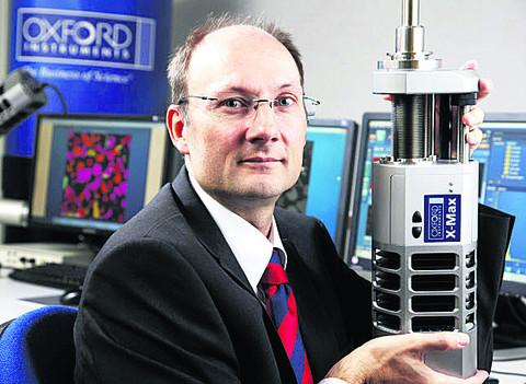 Ian Barkshire of Oxford Instruments Nanoanalysis