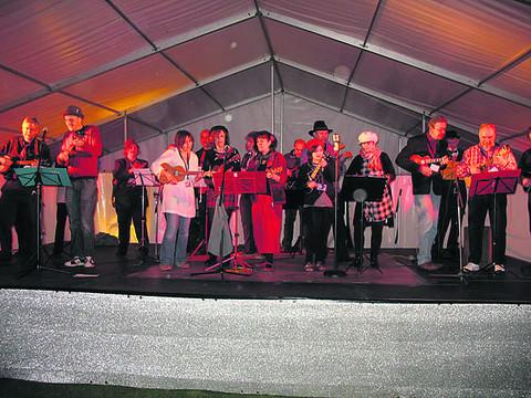 Giving concert . . . Southampton Ukulele Jam is coming to Didcot Civic Hall next month