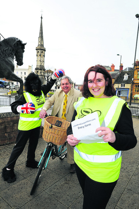 Jessica Friend with Tony Baldry MP and Gus the Gorilla