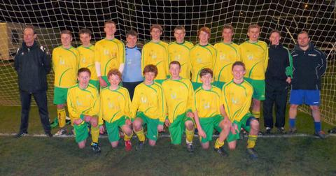 Vale of White Horse under 15s celebrate after their quarter-final victory over Swansea