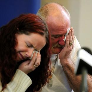 Mick Philpott and his wife Mairead speak to the media at the Derby Conference Centre