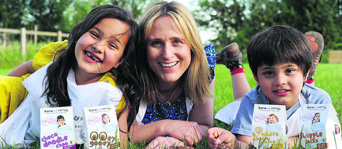 Tasty business: Nutritionist Clare Panchoo with children, Zara, six and Adam, four