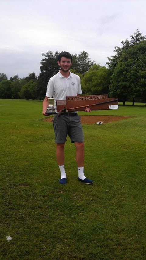 Jake East with his trophy after winning the North Oxford club championship