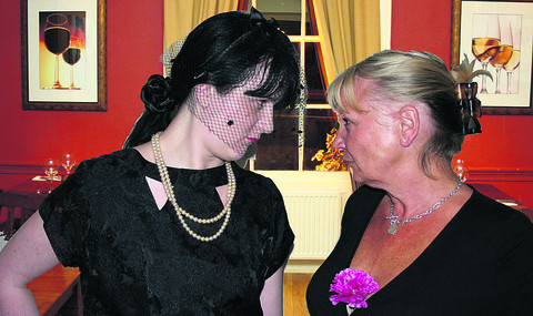 Face to face . . . Dave's widow Laura and ex-wife Kay, played by Terri Kell and Lynne Smith