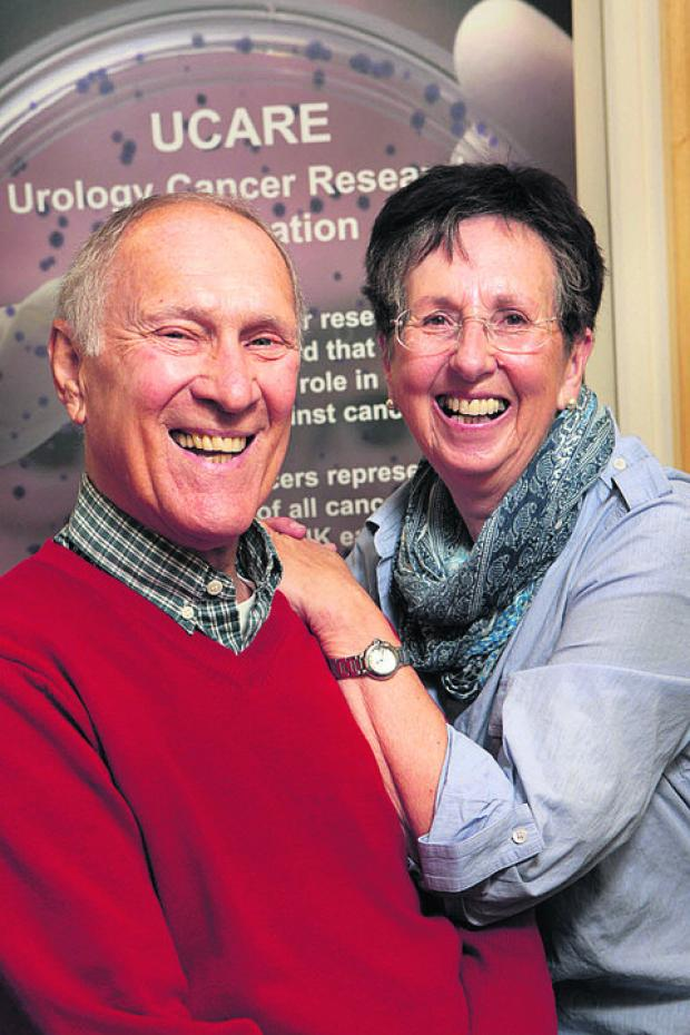 Bob Simmonds with his wife Jean