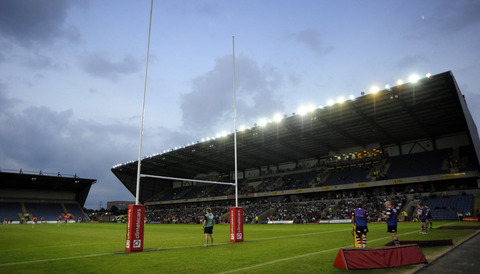 The Kassam Stadium pictured before London Welsh's Championship final against Cornish Pirates in May