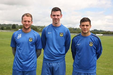 Oxford United new boys (from left) Sean Rigg, Michael Raynes and Jake Forster-Caske